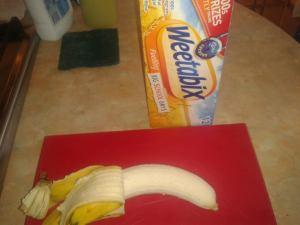 banana and wjeetabix